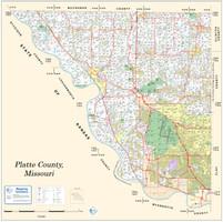Platte County Missouri 2012 Wall Map