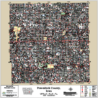 Poweshiek County Iowa 2014 Wall Map