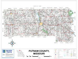 Putnam County Missouri 2009 Wall Map