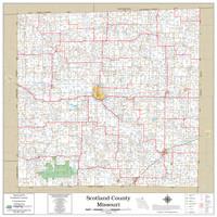 Scotland County Missouri 2020 Wall Map