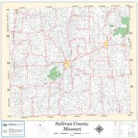 Sullivan County Missouri 2013 Wall Map