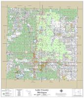 Lake County Michigan 2021 Wall Map