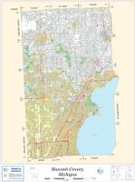 Macomb County Michigan 2012 Wall Map