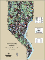 Pope County Illinois 2018 Wall Map