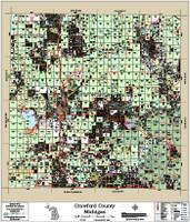 Crawford County Michigan 2017 Wall Map
