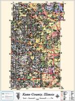 Kane County Illinois 2013 Wall Map