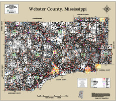 Webster County Mississippi 2017 Wall Map