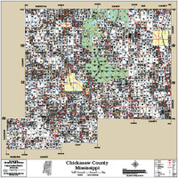 Chickasaw County Mississippi 2014 Wall Map