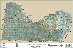 Colbert County Alabama 2014 Aerial Wall Map