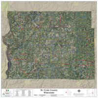 St. Croix County Wisconsin 2021 Aerial Wall Map