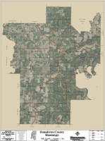 Humphreys County Mississippi 2018 Aerial Wall Map