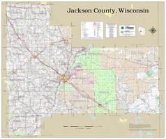 Jackson County Wisconsin 2021 Wall Map