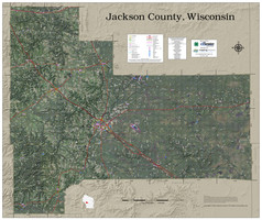 Jackson County Wisconsin 2021 Aerial Wall Map