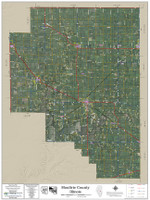 Moultrie County Illinois 2018 Aerial Wall Map