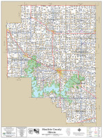 Moultrie County Illinois 2018 Wall Map