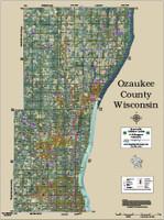 Ozaukee County Wisconsin 2020 Aerial Wall Map