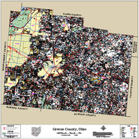 Greene County Ohio 2015 Wall Map
