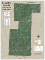 Houghton Keweenaw Counties Michigan 2021 Aerial Wall Map