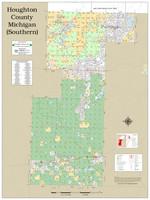 Houghton Keweenaw Counties Michigan 2021 Wall Map
