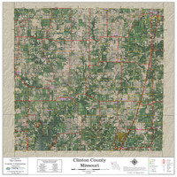 Clinton County Missouri 2021 Aerial Wall Map