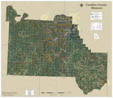 Camden County Missouri 2021 Aerial Wall Map