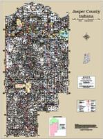 Jasper County Indiana 2015 Wall Map
