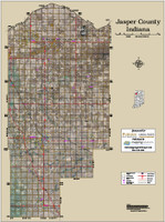 Jasper County Indiana 2015 Aerial Map