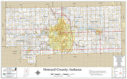 Howard County Indiana 2021 Wall Map