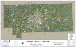 Howard County Indiana 2021 Aerial Wall Map