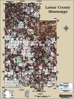 Lamar County Mississippi 2015 Wall Map