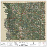 Schuyler County Missouri 2021 Aerial Wall Map