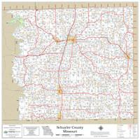 Schuyler County Missouri 2021 Wall Map
