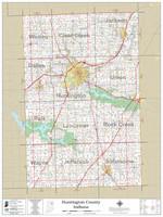 Huntington County Indiana 2021 Wall Map