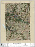 Huntington County Indiana 2021 Aerial Wall Map