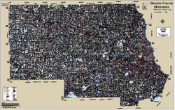 Stearns County Minnesota 2015 Wall Map