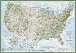 The Essential Geography of the United States of America Map