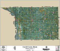 Carroll County Illinois 2016 Aerial Wall Map