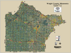 Wright County Minnesota 2016 Aerial Map
