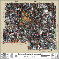Prentiss County Mississippi 2016 Wall Map
