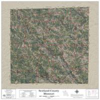 Scotland County Missouri 2020 Aerial Wall Map