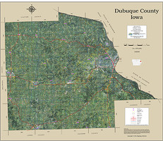 Dubuque County Iowa 2016 Aerial Map