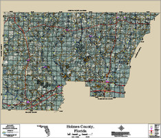 Holmes County Florida 2016 Aerial Map
