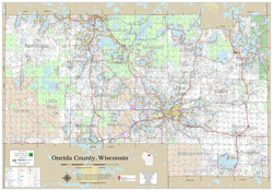 Oneida County Wisconsin 2020 Wall Map