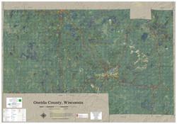Oneida County Wisconsin 2020 Aerial Wall Map