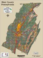 Huntingdon-Blair Counties Pennsylvania 2016 Aerial Map