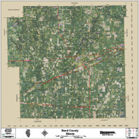Bond County Illinois 2016 Aerial Wall Map