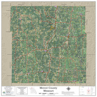 Mercer County Missouri 2020 Aerial Wall Map