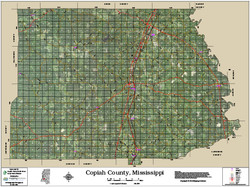 Copiah County Mississippi 2016 Aerial Map