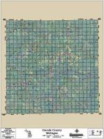 Oscoda County Michigan 2017 Aerial Map