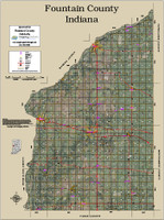 Fountain County Indiana 2017 Aerial Map